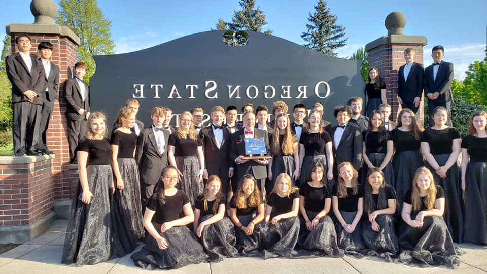 WCHS Concert Choir at the 2019 State Championship