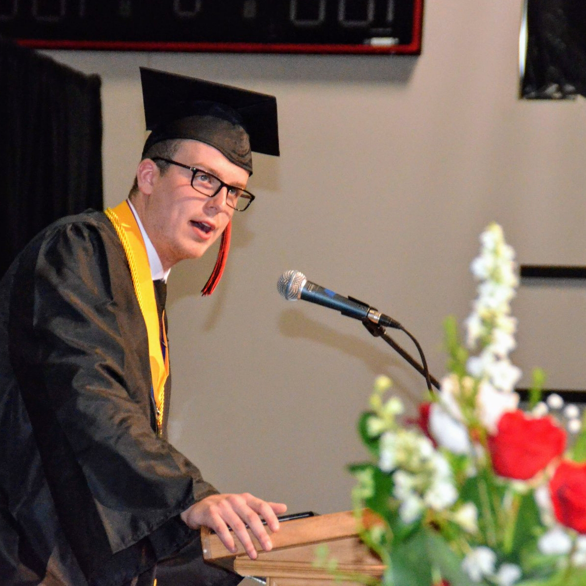 Valedictorian Grant Gardener shares at 2019 Commencement